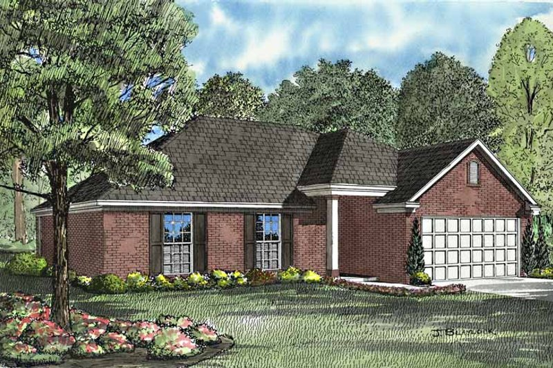 Ranch Exterior - Front Elevation Plan #17-3026
