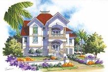 House Plan Design - Mediterranean Exterior - Front Elevation Plan #930-115