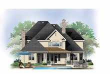 Architectural House Design - European Exterior - Rear Elevation Plan #929-863