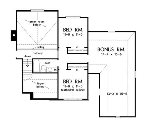 Country Floor Plan - Upper Floor Plan Plan #929-926