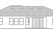 Mediterranean Style House Plan - 3 Beds 2 Baths 1775 Sq/Ft Plan #1058-112 Exterior - Rear Elevation