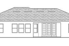 Architectural House Design - Mediterranean Exterior - Rear Elevation Plan #1058-112