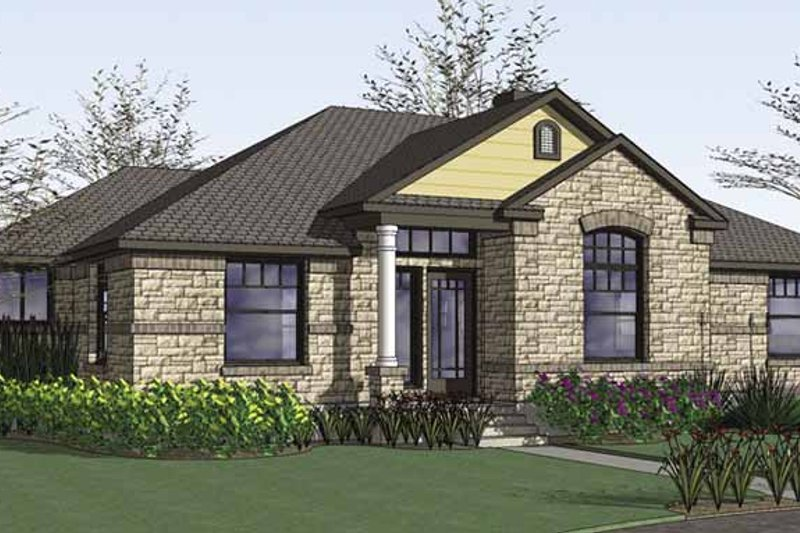 Traditional Exterior - Front Elevation Plan #120-210 - Houseplans.com