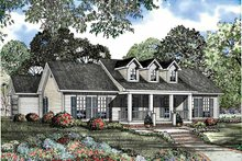House Plan Design - Country Exterior - Front Elevation Plan #17-3058