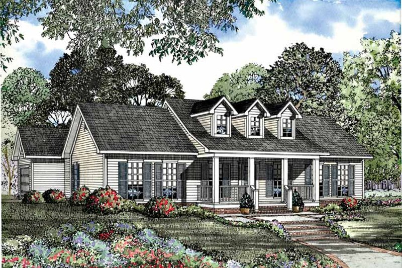 Country Exterior - Front Elevation Plan #17-3058