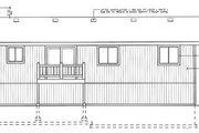 Traditional Style House Plan - 3 Beds 2 Baths 1183 Sq/Ft Plan #92-501 Exterior - Rear Elevation