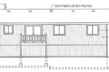 Home Plan - Traditional Exterior - Rear Elevation Plan #92-501