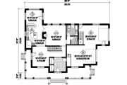 Country Style House Plan - 4 Beds 2 Baths 3067 Sq/Ft Plan #25-4627 Floor Plan - Main Floor Plan
