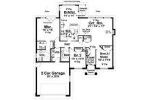 Ranch Floor Plan - Main Floor Plan Plan #126-180