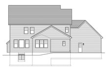 Colonial Exterior - Rear Elevation Plan #1010-159
