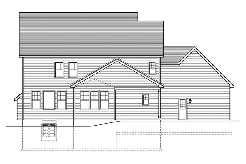 Colonial Exterior - Rear Elevation Plan #1010-159 - Houseplans.com