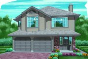 Traditional Style House Plan - 3 Beds 2 Baths 1375 Sq/Ft Plan #47-558 Exterior - Front Elevation