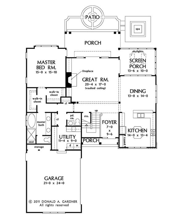 House Plan Design - Cottage Floor Plan - Main Floor Plan #929-960