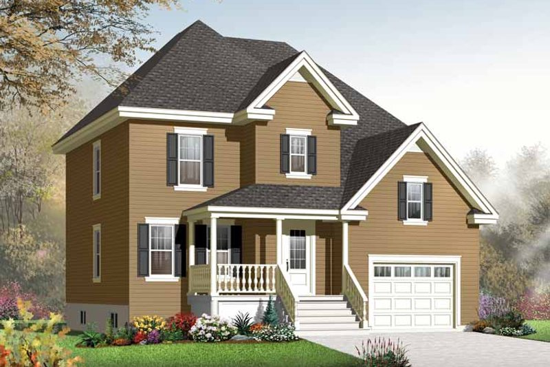 Architectural House Design - Country Exterior - Front Elevation Plan #23-2538