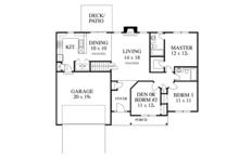 Colonial Floor Plan - Main Floor Plan Plan #1053-17