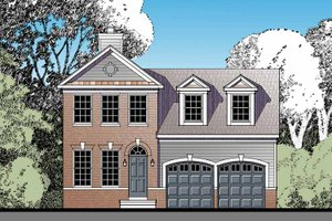 Architectural House Design - Traditional Exterior - Front Elevation Plan #1029-58