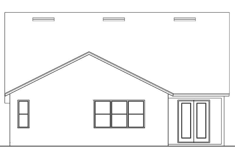 Craftsman Exterior - Rear Elevation Plan #1058-136 - Houseplans.com