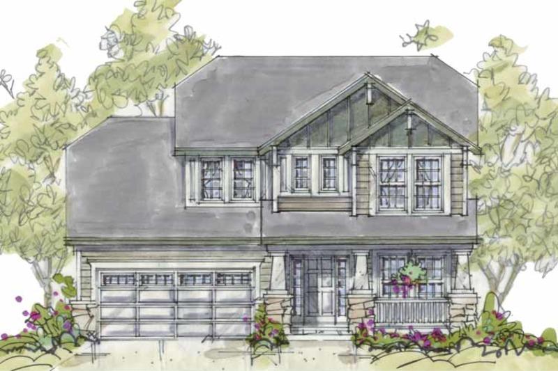 Craftsman Exterior - Front Elevation Plan #20-2236 - Houseplans.com