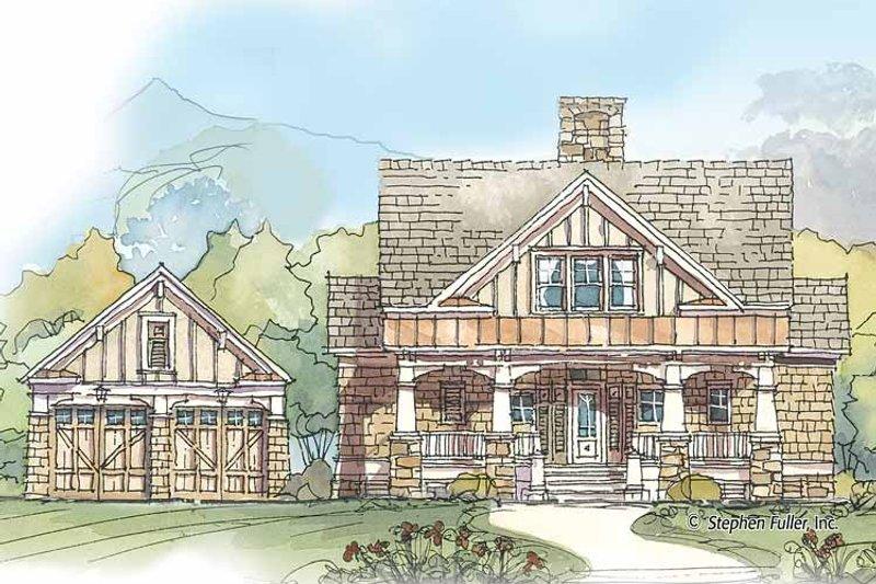 Craftsman Exterior - Front Elevation Plan #429-425 - Houseplans.com