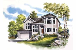 Contemporary Exterior - Front Elevation Plan #942-2