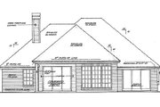 European Style House Plan - 3 Beds 2 Baths 1631 Sq/Ft Plan #310-769 Exterior - Rear Elevation