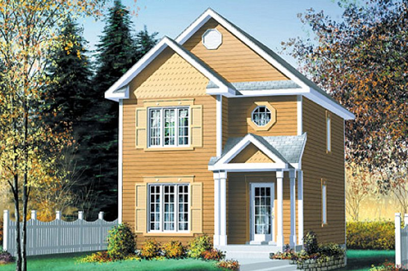 Traditional Style House Plan - 3 Beds 1.5 Baths 1306 Sq/Ft Plan #25-268 Exterior - Front Elevation