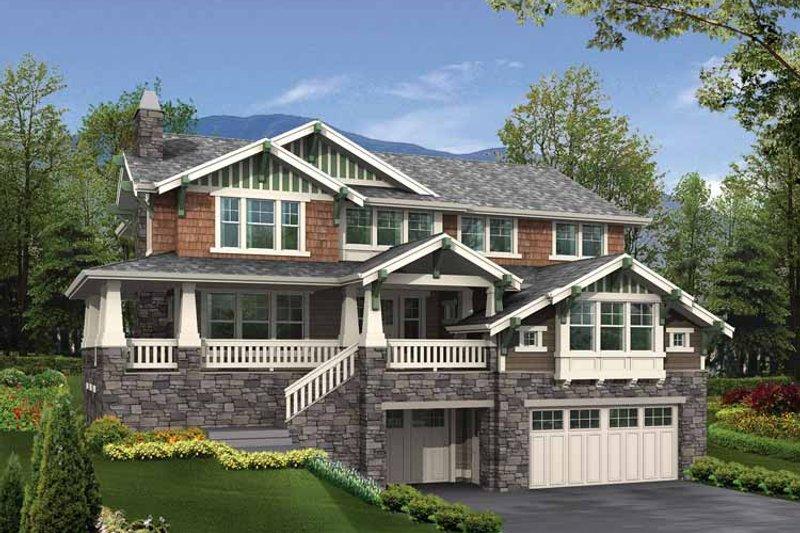 Dream House Plan - Craftsman Exterior - Front Elevation Plan #132-334