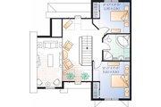 European Style House Plan - 3 Beds 2 Baths 1498 Sq/Ft Plan #23-2459 Floor Plan - Upper Floor Plan