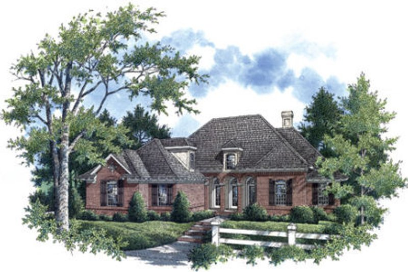 European Exterior - Front Elevation Plan #45-357