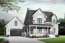 Home Plan - Country Exterior - Front Elevation Plan #23-2561