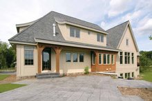 House Plan Design - European Exterior - Rear Elevation Plan #928-28