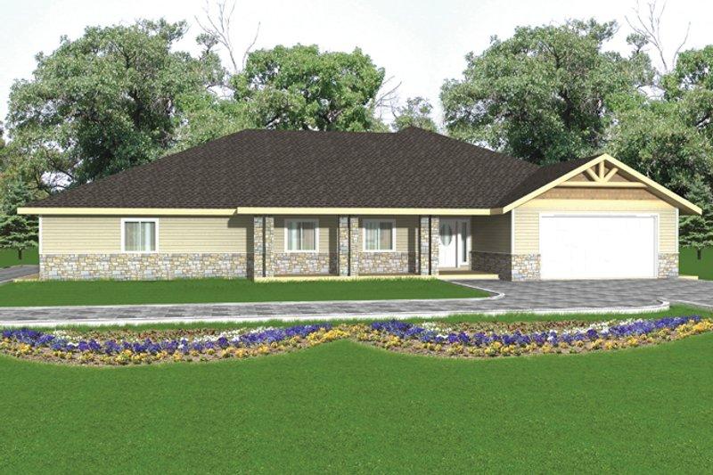 House Plan Design - Ranch Exterior - Front Elevation Plan #117-852