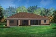 Mediterranean Style House Plan - 3 Beds 2 Baths 2042 Sq/Ft Plan #930-453 Exterior - Rear Elevation