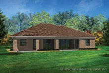 House Plan Design - Mediterranean Exterior - Rear Elevation Plan #930-453