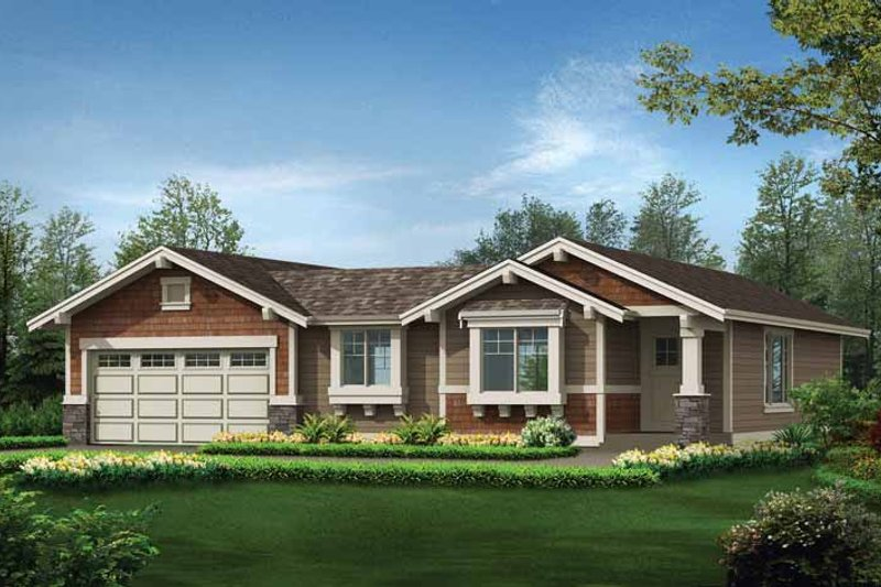 Craftsman Exterior - Front Elevation Plan #132-531