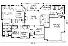 European Floor Plan - Main Floor Plan Plan #84-619