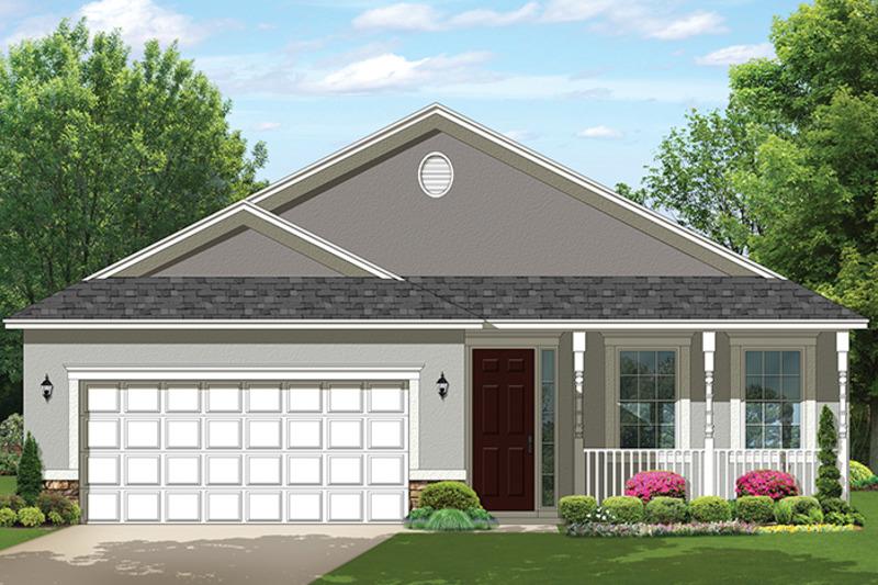 Ranch Exterior - Front Elevation Plan #1058-104 - Houseplans.com