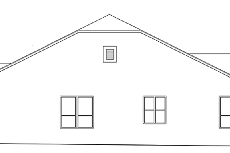 Ranch Exterior - Other Elevation Plan #1058-139 - Houseplans.com