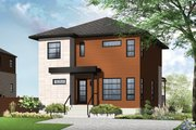 Contemporary Style House Plan - 3 Beds 1.5 Baths 1670 Sq/Ft Plan #23-2583 Exterior - Front Elevation