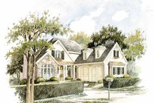 House Design - Country Exterior - Front Elevation Plan #429-299
