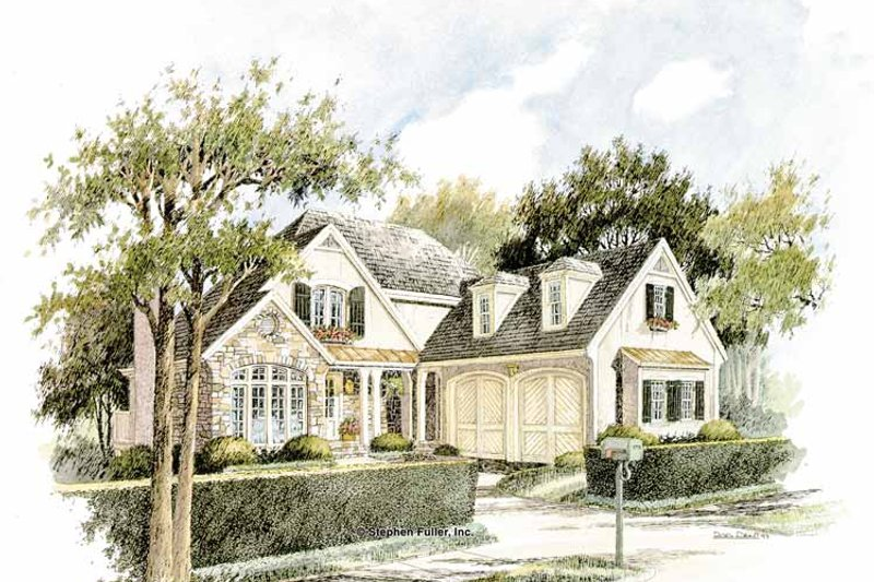 Country Exterior - Front Elevation Plan #429-299 - Houseplans.com