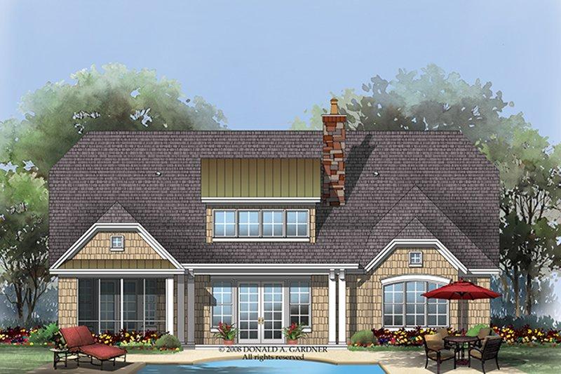 European Exterior - Rear Elevation Plan #929-922 - Houseplans.com