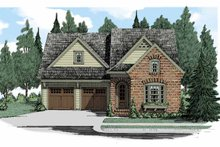 European Exterior - Front Elevation Plan #927-509
