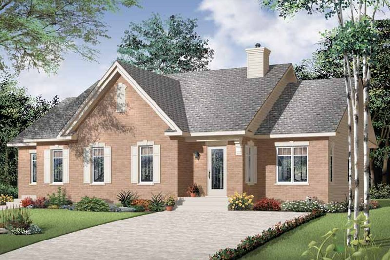 Craftsman Exterior - Front Elevation Plan #23-2394