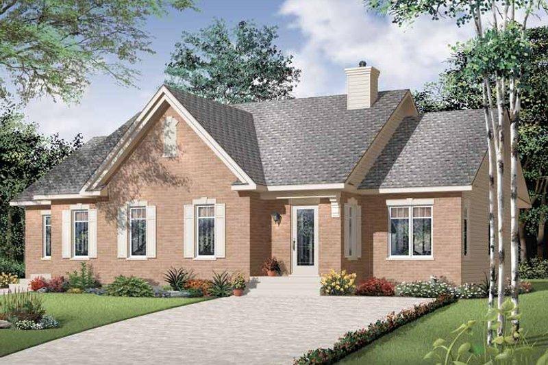 Architectural House Design - Craftsman Exterior - Front Elevation Plan #23-2394