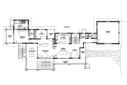 Prairie Style House Plan - 4 Beds 4 Baths 3742 Sq/Ft Plan #1042-17 Floor Plan - Main Floor Plan