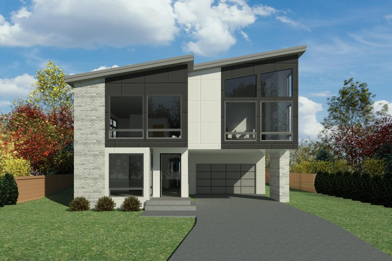 Architectural House Design - Contemporary Exterior - Front Elevation Plan #1066-120