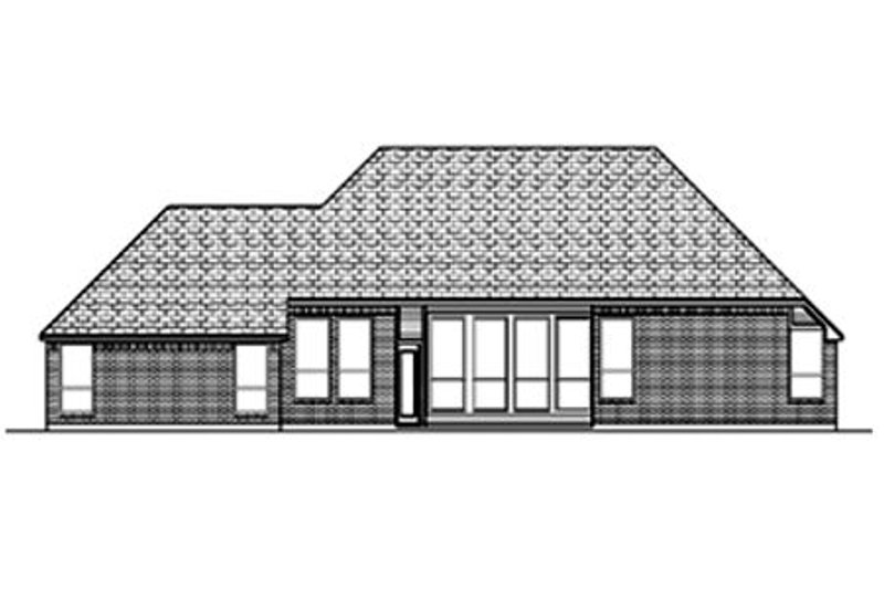 Traditional Exterior - Rear Elevation Plan #84-361 - Houseplans.com