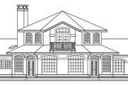 Mediterranean Style House Plan - 3 Beds 3 Baths 2979 Sq/Ft Plan #124-572 Exterior - Rear Elevation
