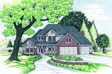 Traditional Exterior - Front Elevation Plan #20-1001